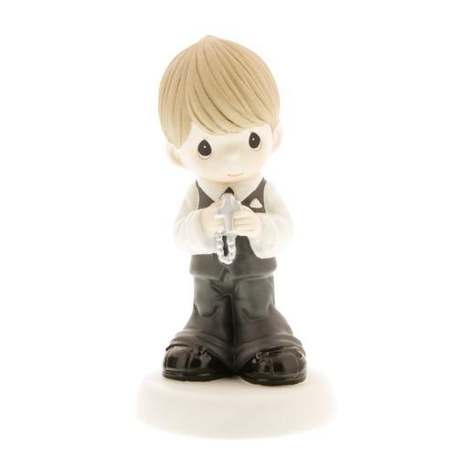 First Communion Blonde-Haired Boy Figurine