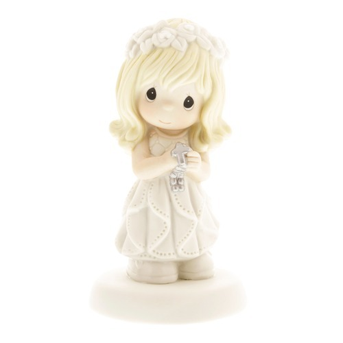 First Communion Blonde-Haired Girl Figurine