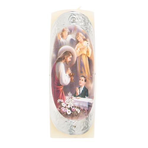 First Communion Pillar Candle - Boy
